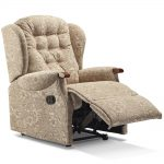 LYNTON Small Recliner - Dark Beech Knuckles Cover - Fabric 1
