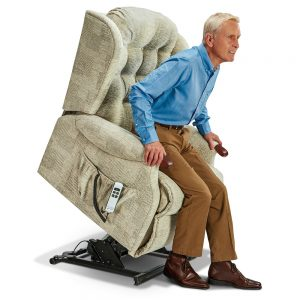LYNTON Royale 2-motor Electric Riser Recliner - Knuckles Cover - Fabric 1