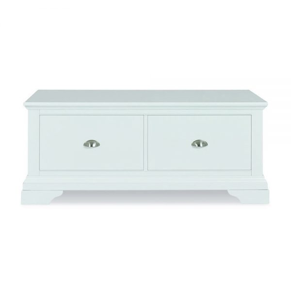 Helena White Blanket Box