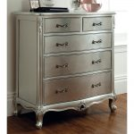 Rococo Chest of Drawers - Silver Leaf