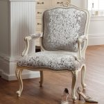 Rococo Armchair - Painted White Finish