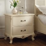 Rococo Bedside Cabinet - Painted White Finish