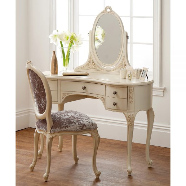 Rococo Dressing Table - Painted White Finish
