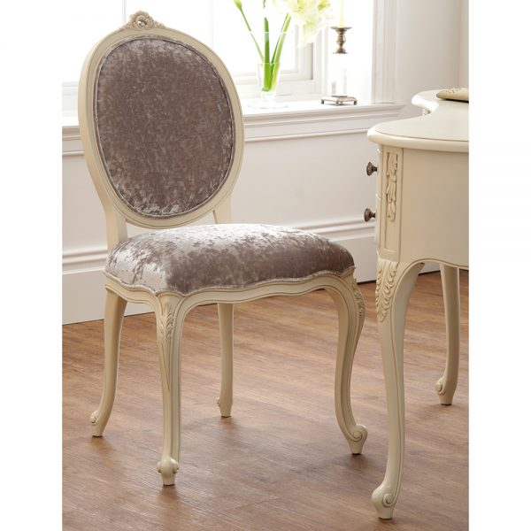Rococo Chair - Painted White Finish