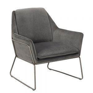 Karla Occasional Chair - Grey Velvet