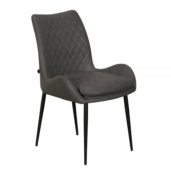 Sarah Dining Chair - Grey PU