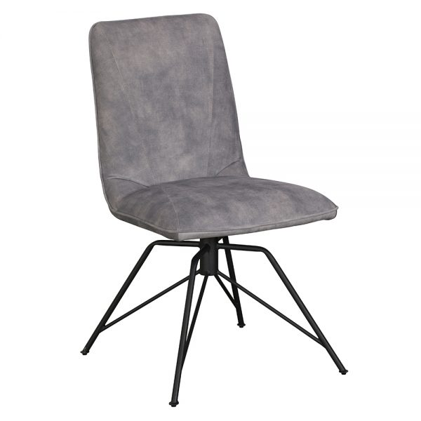 Lola Dining Chair - Grey Velvet