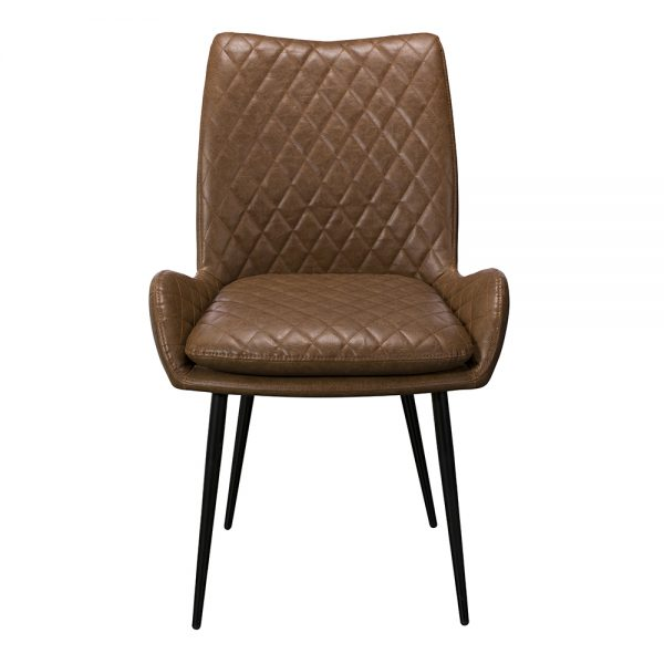 Sarah Dining Chair - Brown PU