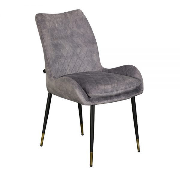 Sarah Dining Chair - Grey Velvet