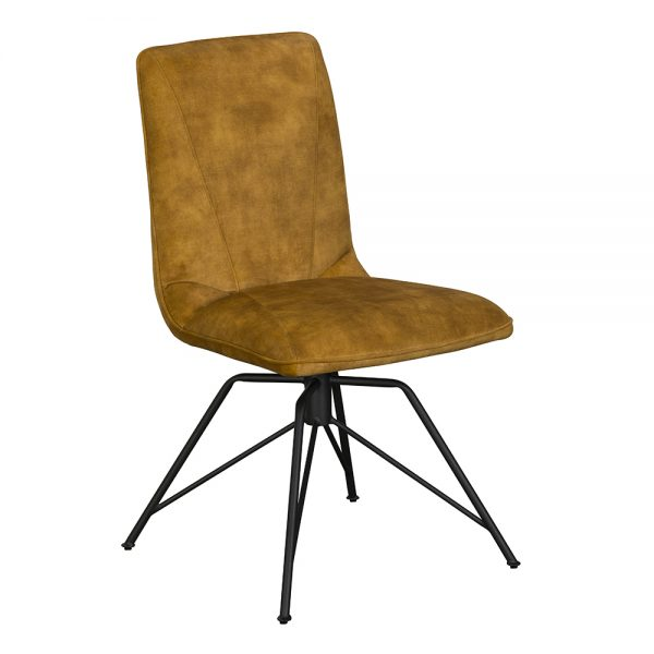 Lola Dining Chair - Gold Velvet