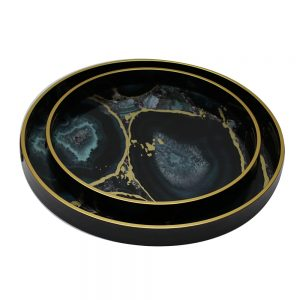 Serving Tray Set/2 (Midnight Glory)