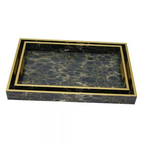 Serving Tray Set/2 (Deep Blue)