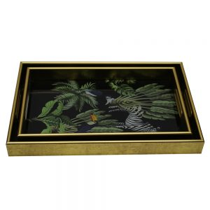 Serving Tray Set/2 (Zebra)
