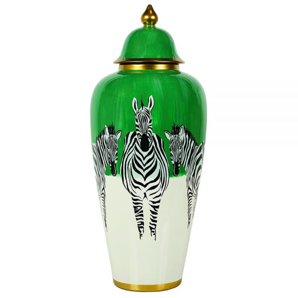 Zebra Jar Large