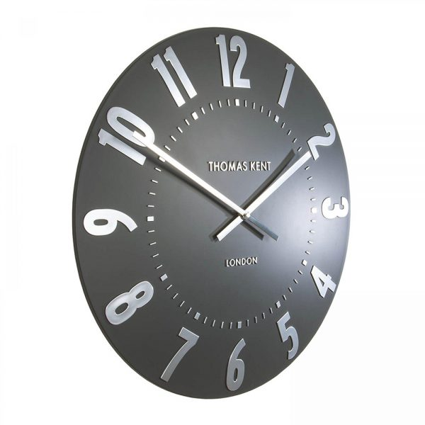 "20"" Mulberry Wall Clock Graphite Silver"