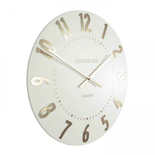 """20"""" Mulberry Wall Clock Ivory Champagne"""