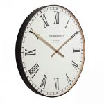 "30"" Clocksmith Oversized Wall Clock Black"