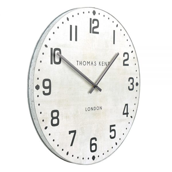 "30"" Wharf Grand Wall Clock Chalk White"