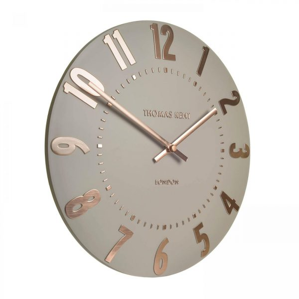 "20"" Mulberry Wall Clock Rose Gold"