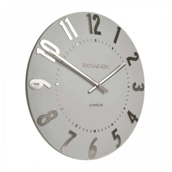 """20"""" Mulberry Wall Clock Silver Cloud"""