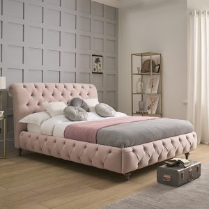 TRUFFLE Double Low End Bedstead Fabric A