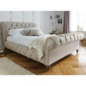TRUFFLE Double High End Bedstead Fabric A