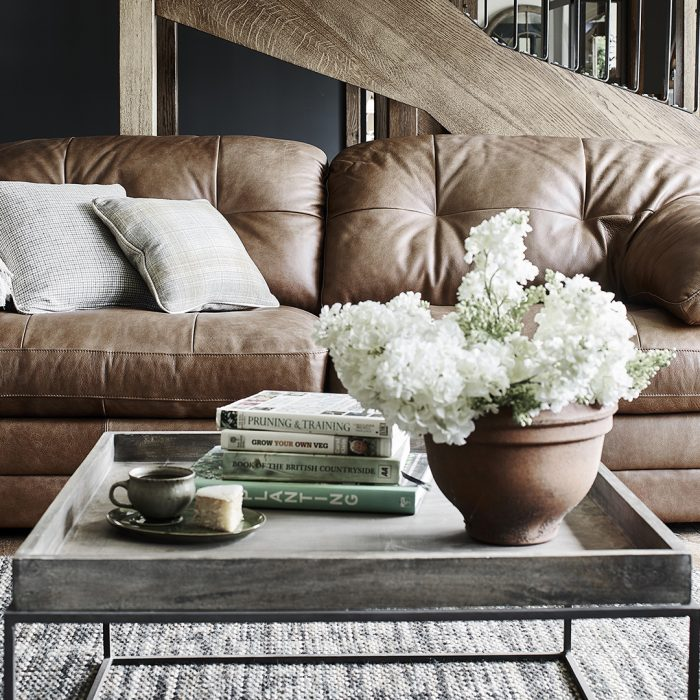 scott leather sofa
