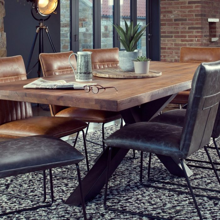 soho dining table and dining chairs