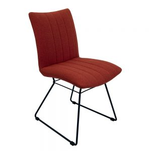 Aura Dining Chairs - Burnt Orange Pair