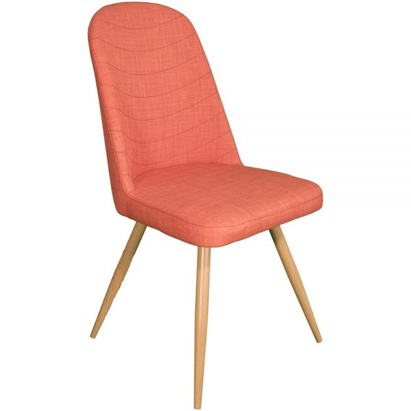 Reya Dining Chairs - Orange Pair