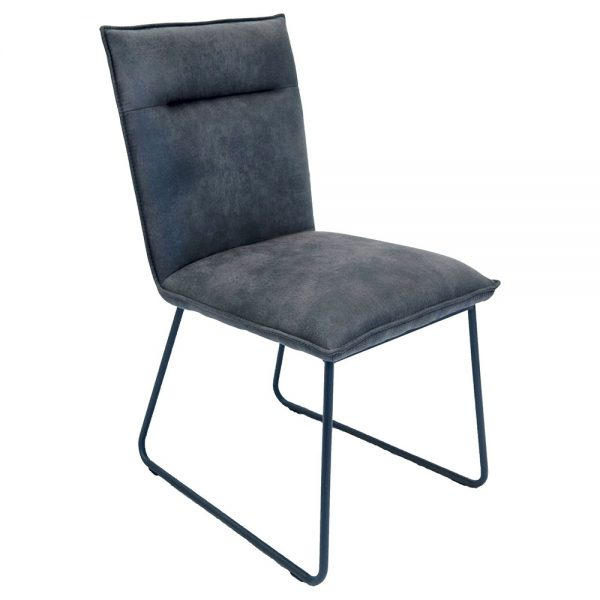 Larson Dining Chairs - Grey Suede