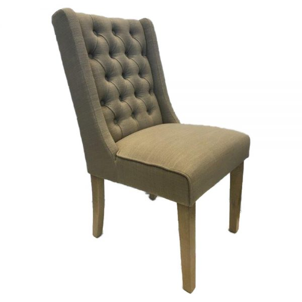 Luxor Oak Dining Chairs - Almond