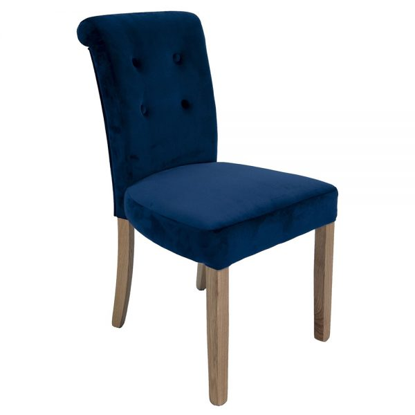 Normandy Dining Chairs - Blue Velvet