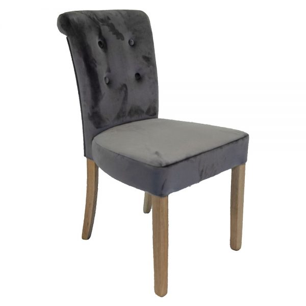 Normandy Dining Chairs - Mink Velvet