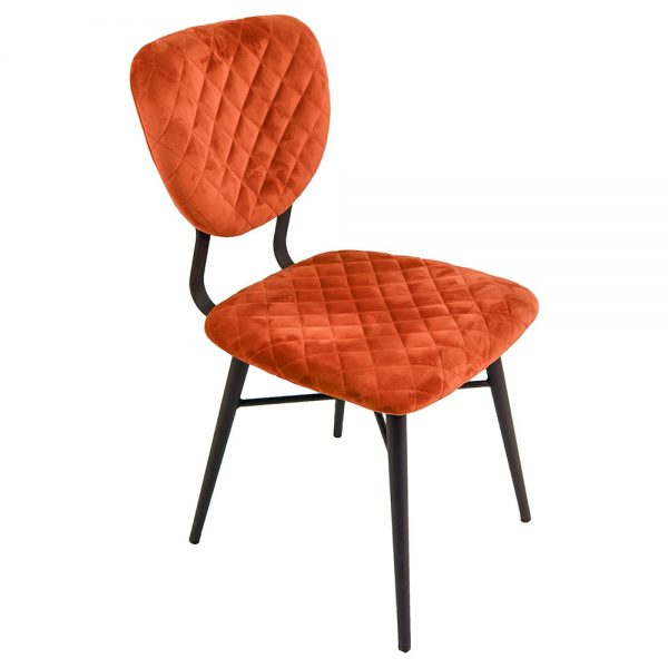 Ranger Dining Chairs - Copper Velvet