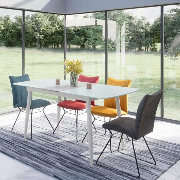 Riva Small Extending Dining Table - White