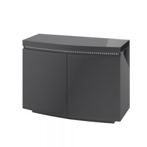Florence 2 Door Sideboard with LED Grey High Gloss