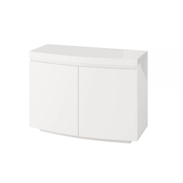 Florence 2 Door Sideboard with LED White High Gloss