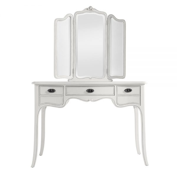 Classic Dressing Table with Triple Mirror - Mist