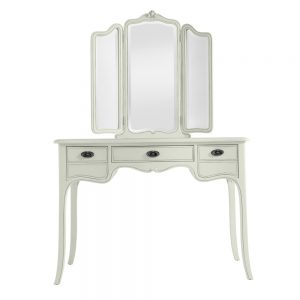 Classic Dressing Table with Triple Mirror - Cloud
