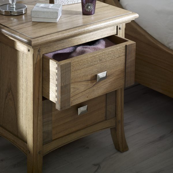 Haven 2 Drawer Bedside Cabinet