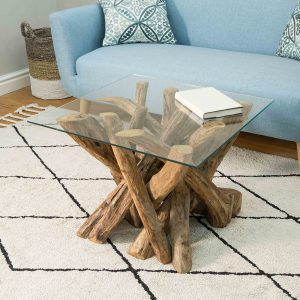 Branchwood Square Lamp Table