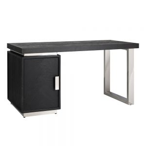 Blackbone Desk - 1 Door Cabinet