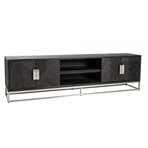 Blackbone 4 Door TV Unit 220cm