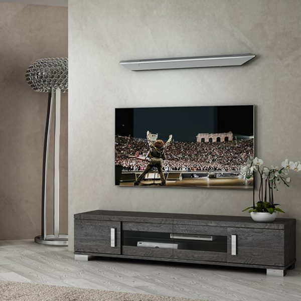 Bianca Large TV Unit with central sliding doors