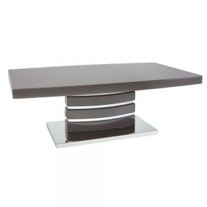 San Marino Grey Coffee Table with Glass Top