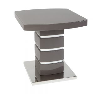 San Marino Grey Lamp Table with Glass Top