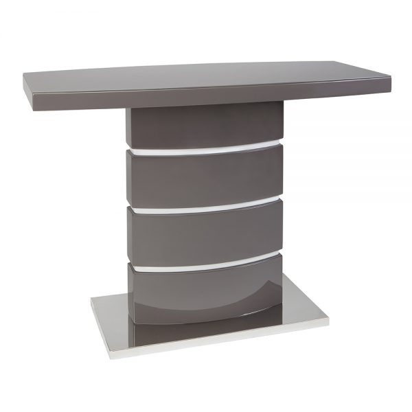 San Marino Grey Console Table with Glass Top