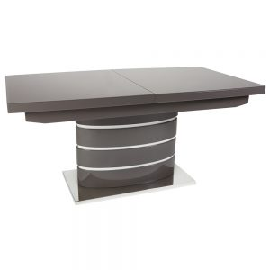 San Marino Grey Extending Dining Table with Glass Top