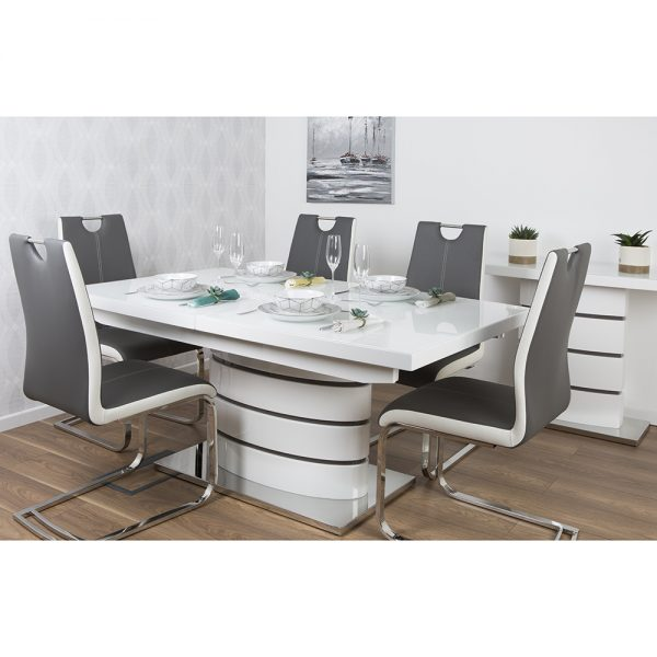 San Marino Extending Dining Table with Glass Top